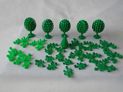 LEGO house garden island - mixed lot of green trees and branches