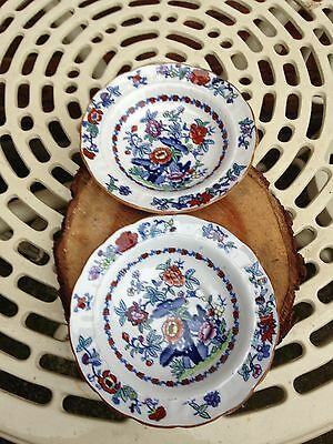 Pair of 1908 Booths Silicon China The Pompadour Bowls Dishes