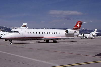 Original 35mm Aircraft Slide Swiss Canadair CRJ-100 HB-IVU March99