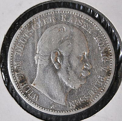 PRUSSIA 2 silver marks 1896 A * KM#522 * GERMAN STATES - PRUSIA *