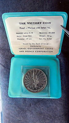 Israel Western Wall Victory Coin Proof Coa Blue Case 10Il