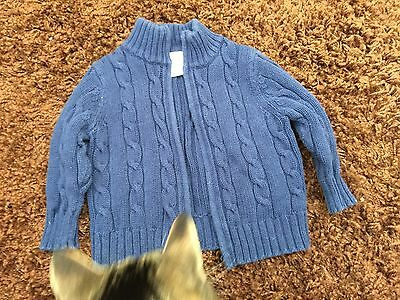 Old Navy 12-18M Blue cable Knit cardigan
