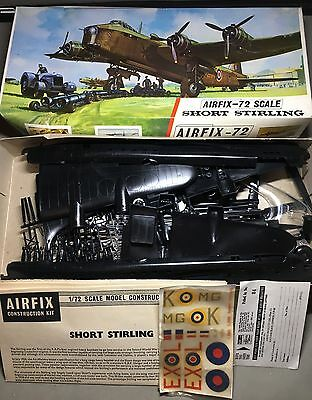Vintage Complete BOXED AIRFIX 682 SHORT STIRLING PLANE MODEL KIT WWII TOY 1:72