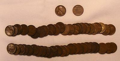Roll Of 50 1924-S Lincoln Wheat Cents!!  Very Nice Coins!!
