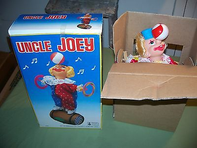 Sealed 1980's Uncle Joey Battery operated Clown Rolls Twirls, IC Music