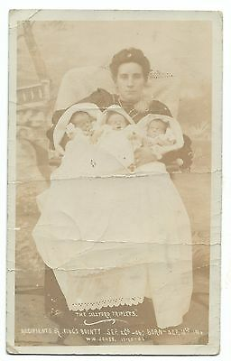 Coleford Triplets, Born, September 10th 1906, Recipients of Kings Bounty RP PPC