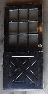 Vtg 36x78 Dutch Door 9 Lite Top Old Shabby Cottage Exterior Entry 173-17E