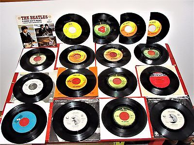 BEATLES 45 RPM LOT & PAUL M & WINGS AND JOHN LENNON & MORE SOME UNUSUAL 45s