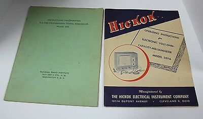 NRI signal generator instuctions/ Hickok instruction 209A
