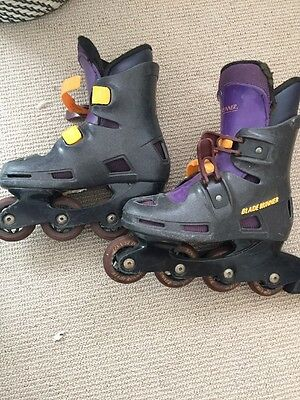 Blade Runner Kids Roller Blades Rollerblades Glen Iris Purple Black