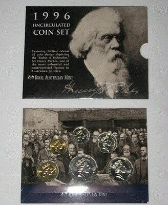 1996 Royal AUSTRALIA Mint 6 COIN Proof SET $1 LIMITED Release Sir Henry Parkes