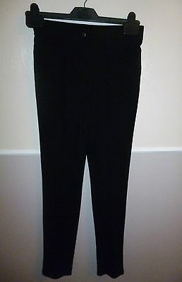 New, Age  11(1) Yrs, Black,stretch, Skinny, School Trousers From Tammy.