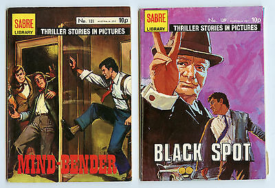 2 x Thriller Stories In Pictures #121 #129 Sabre Library Comics 1976