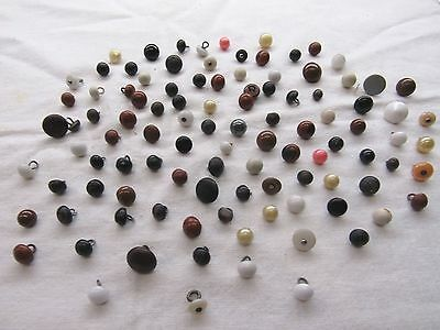 Super Lot Of 100 Vintage  Shoe Sewing Buttons