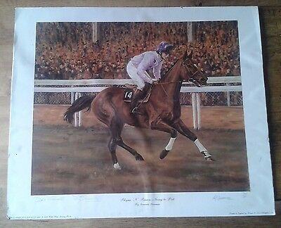 2 Rare Collectable Desert Orchid Rhyme N Reason Limited Edition Signed Prints