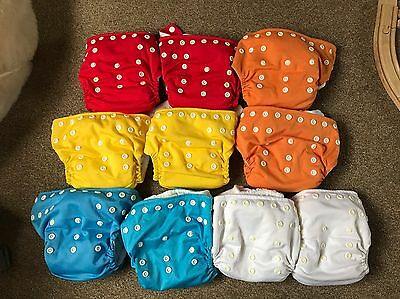 Little Lamb One Size Nappies V2 | Pocket Nappies | OSFA | 10 Pack | Used