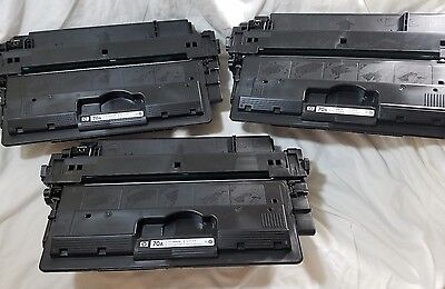 HP Toner Cartridges 70A Q7570A EMPTY USED Virgin OEM, Lot of 3, Refill Free Ship