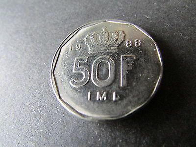 1988 Luxembourg 50 Francs.