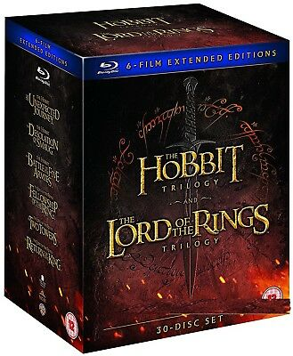 THE LORD OF THE RINGS+THE HOBBIT - MIDDLE EARTH COMPLETE Extended RgFree BLU-RAY