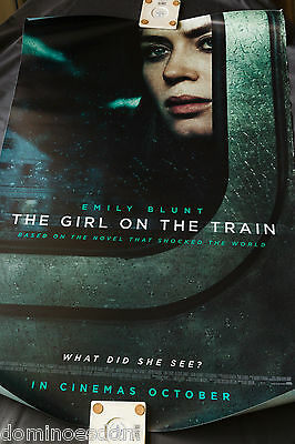 The Girl on the Train – 2016 Original British One Sheet Poster – Double Sided