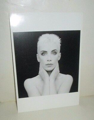 Eurythmics Annie Lennox Photo Postcard 1989 Fotofolio Black & White Image