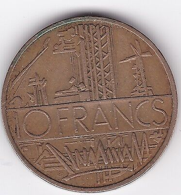 1977 France 10 Francs Coin - see scans for condition