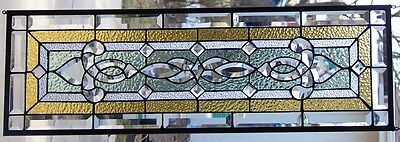 Stained Glass window hanging 34 1/2 X 11 1/4