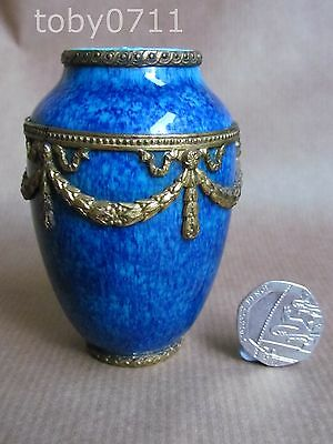 PAUL MILLET SEVRES MINIATURE VASE WITH EMPIRE STYLE GILT MOUNTS (Ref827)