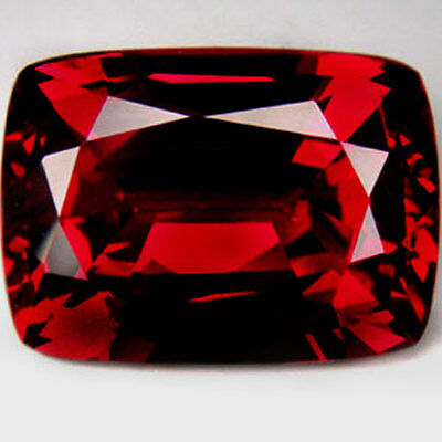 11.30Ct.14x11x7 mm. Ravishing Blood Red Ruby Cushion Fancy Loose Gemstone