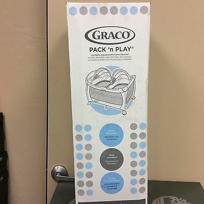 Graco Pack N' Play with twins bassinet Vance BRAND NEW!!!
