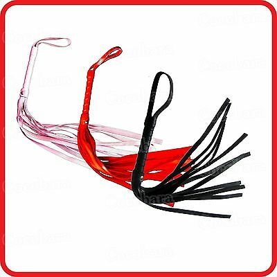 Whip-Black Red Pink-50Cm -Cat O'nine Tails -Faux Leather -Costume -Party