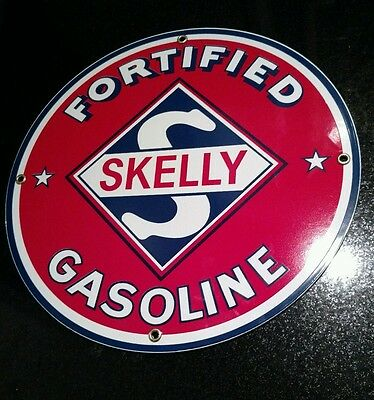 Skelly Gasoline Oil Porcelain Advertising Sign