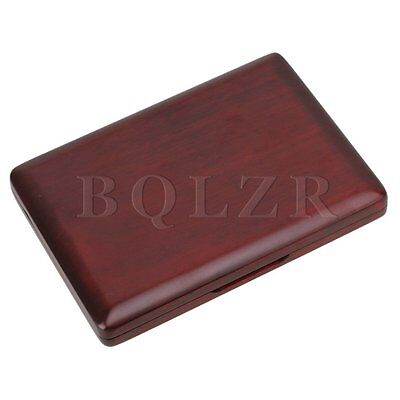 Elegant Wooden Alto/Soprano Saxphone Reed Case Holds 6 Reeds Red Strong