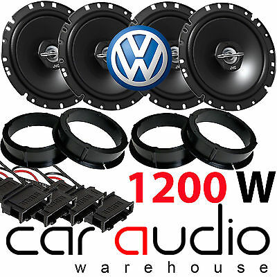 VW Vokswagen Golf MK4 JVC 1200 Watts Front & Rear Door Car Speakers Upgrade Kit
