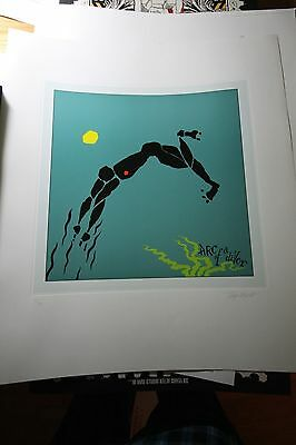 Steve Winwood ARC OF A DIVER Album Art Print Hand Signed Tony Wright Lithograph