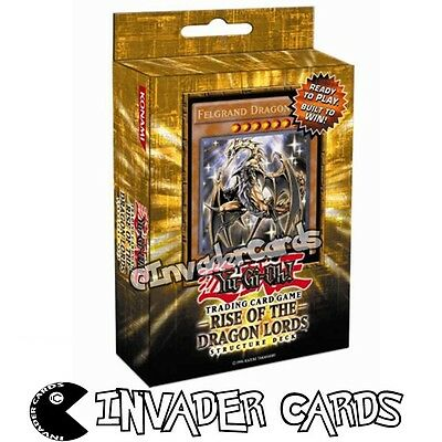 YuGiOh Rise Of The Dragon Lords Structure Deck SDRL 1st Edition Structure Deck