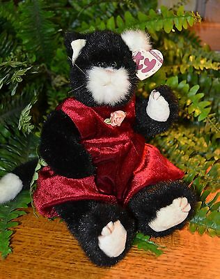 "1993 Ty Attic Treasures ~12""~ Ebony the Cat ~Collectable NWT--"