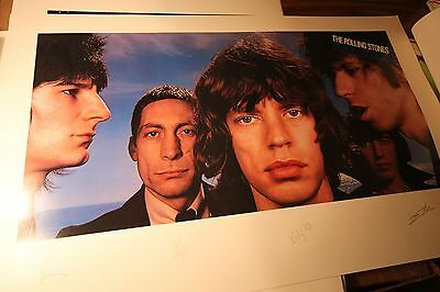 The ROLLING STONES Cover Art Print BLACK AND BLUE Gatefold Design Lithograph