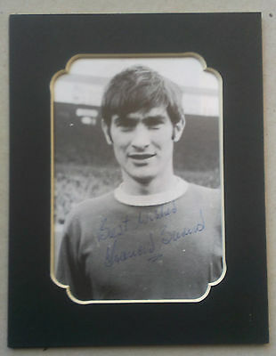 Francis Burns - Manchester United Signed Mounted Picture1960S - Very Rare To Get