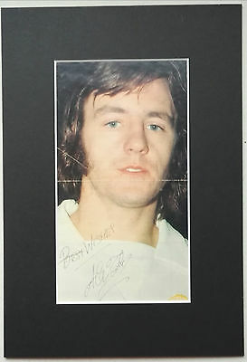 """ALEX FORSYTH - MANCHESTER UNITED 1970's... SIGNED MOUNTED PICTURE  13"""" x 9"""" RARE"""