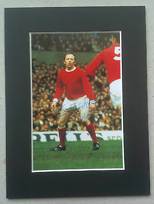Nobby Stiles - Manchester United Signed Mounted Picture - England 1966 Legend