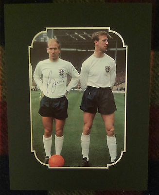 Bobby Charlton - England Circa 1965-66 Signed Mounted Picture World Cup Star