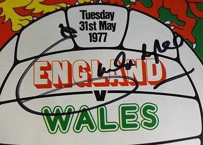 1977 ENGLAND vs.WALES SIGNED PROGRAMME  BY THE GREAT    EMLYN HUGHES - LIVERPOOL
