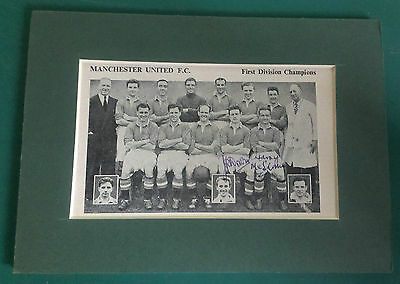 Early 1950's John Downie & Harry Mcshane - Manchester United Signed Mounted Pic