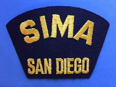 Vintage 1970's US Navy SIMA San Diego Jacket Hat Iron On Patch Crest 034