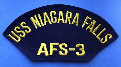 Vintage 1960's US Navy USS Niagra Falls AFS-3 Jacket Hat Iron On Patch 041