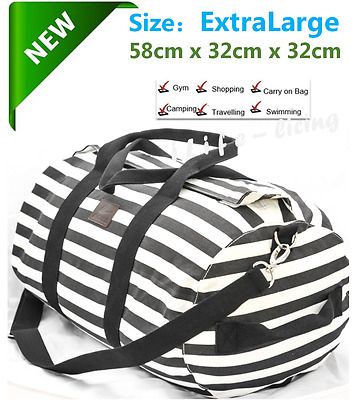 58CM EXTRA LARGE Canvas Carry on School Gym Travel Overnight  Duffle Bag Carbin