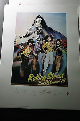 The ROLLING STONES European Tour 1976 Lithograph Print