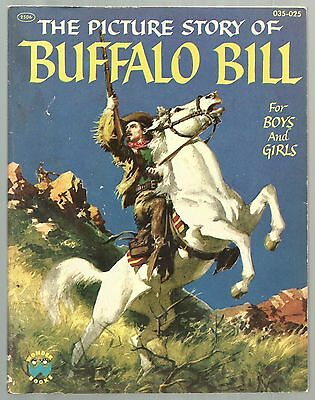 Vintage Children's Book THE PICTURE STORY OF BUFFALO BILL Wonder Books