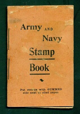 1890's Wills' English Pills Army and Navy Stamp Holder Book